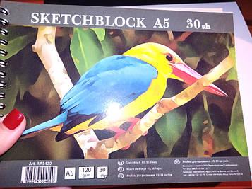 Альбом для набросков (СКЕТЧБУК) А5 AА5430 на спирали 30л