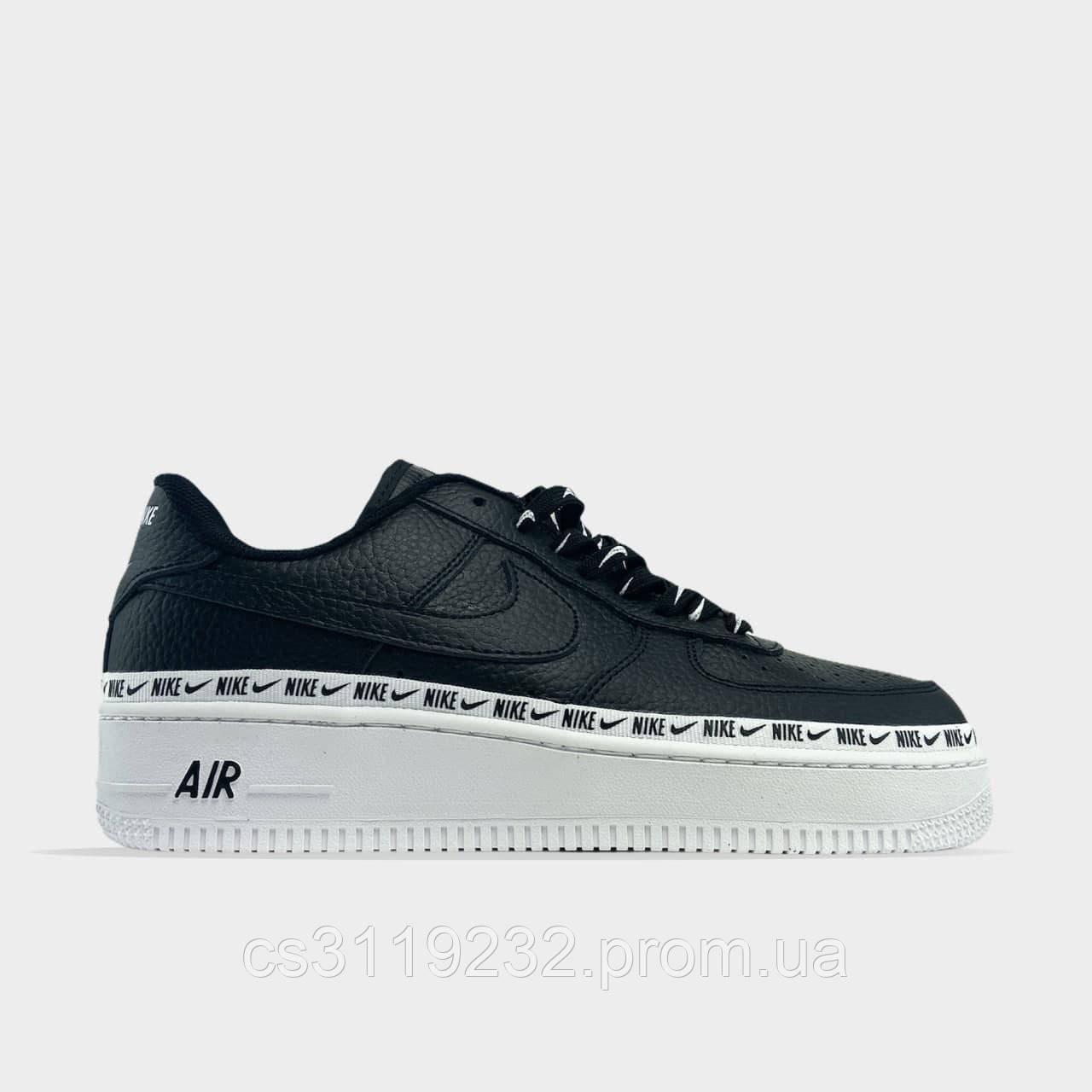 Мужские кроссовки Nike 1 '07 SE Premium Black/White  (черные)