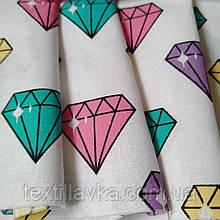 Ткань хлопок для рукоделия бриллианты
