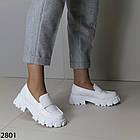 Женские белые туфли, экокожа, фото 4