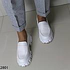 Женские белые туфли, экокожа, фото 3