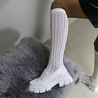 Женские белые туфли, экокожа, фото 5