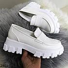 Женские белые туфли, экокожа, фото 7