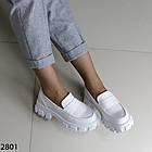 Женские белые туфли, экокожа, фото 6