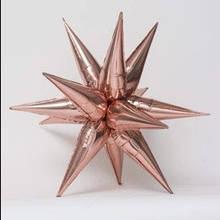 3 D зірка рожеве золото фольгована 65х65см Китай