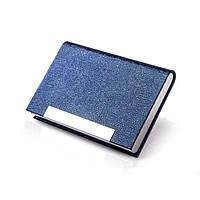 Универсальная металлическая визитница-футляр «Multi» (синий)