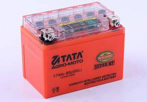 Аккумулятор гелевый, 4Ah-YTX4L-BS, оранж., 114*70*86мм, С ИНДИКАТОРОМ - OUTDO