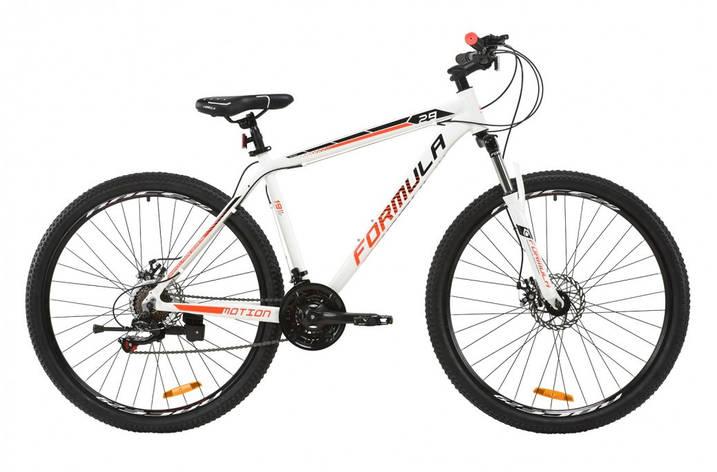 """Велосипед гірський універсальний 27.5"""" Formula Motion DD 2020 алюмінієва рама 17"""" 19"""" сірий з кораловим, 17"""", фото 2"""