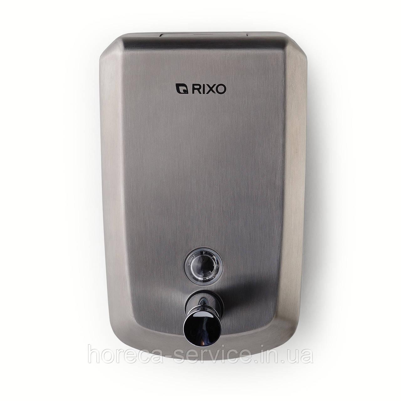 Дозатор рідкого мила Rixo Solido S001 нержавіюча сталь