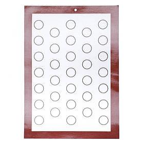 Силиконовый коврик белый для выпечки (42*29,5) (silicone-1)
