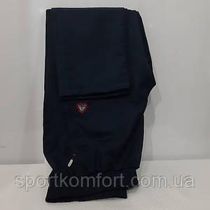 Спортивні чоловічі прогулянкові штани SOCCER з плащової тканини темно-сині три кишені на блискавці прямі