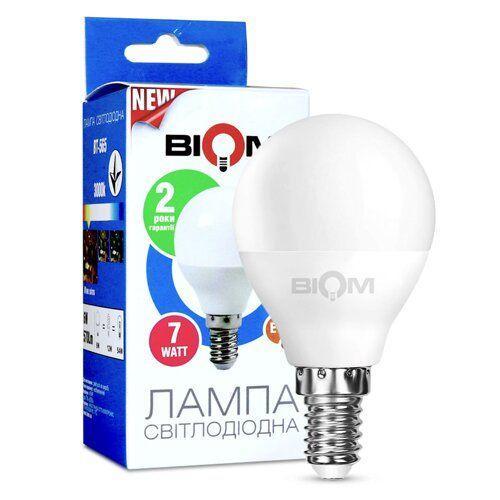 Світлодіодна лампа Biom BT-565 G45 7W E14 4500К матова