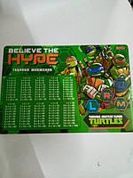 Подложка пластиковая Ninja Turtles 491642 1 Вересня