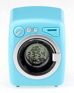 Стиральная машина будильник голубая