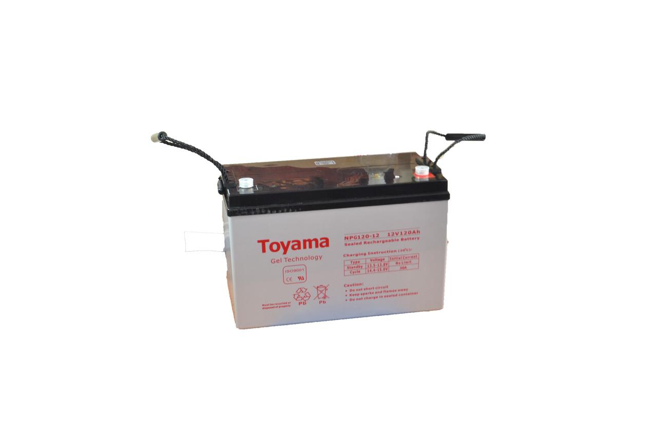 Гелевая аккумуляторная батарея Toyama 120Ah 12V, фото 1