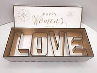 """Коробка для упаковки. Подарочная коробка.8 марта """"Happy Women's Day"""""""