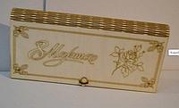 Деревянная коробка для упаковки. Подарочная коробка.8 марта.