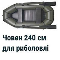 Гребная двухместная лодка ПВХ Grif GL 240S, бюджетная надувная гребная лодка, лодка пвх 240, гребные лодки