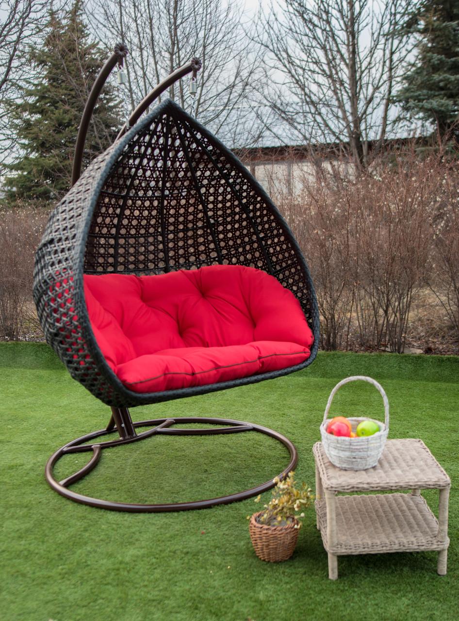 Крісло-кокон підвісне з ротанга Дабл Преміум (Premium)