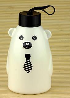 Термобутылка 33 wishes Gentle Bear белая, бутылка медвежонок (HD-231A)