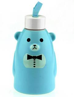 Термобутылка 33 wishes Gentle Bear голубая, бутылка медвежонок (HD-231B)