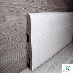 Ламінована плінтус МДФ для підлоги Pedross Дуб світло-сірий, 14х70х2400мм