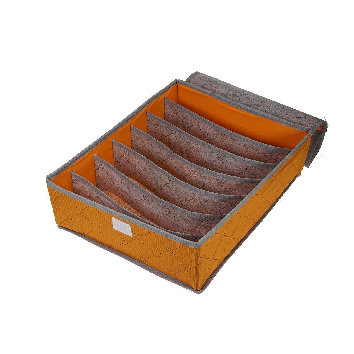 Органайзер для бюстгальтеров на 7 отделений с крышкой, Оранжевый