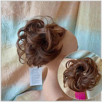 Резинка шиньон из волос каштаново-медный 0215А-30 Global