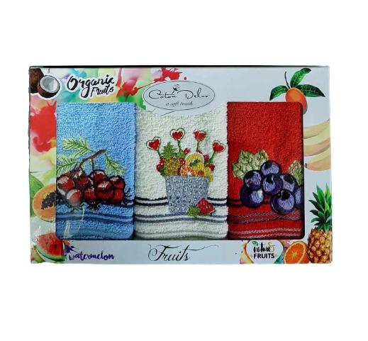 Набор из 3-х махровых полотенец Gursan. Cotton Fruits 05