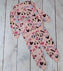Детская пижама для девочки 7-12 лет минни маус розовая 4392
