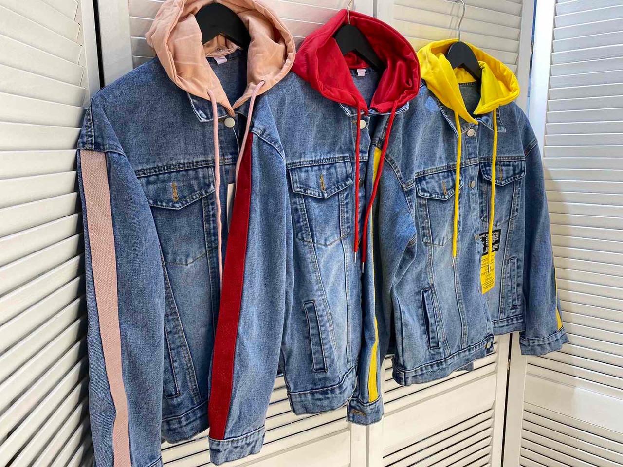 Женская джинсовка с капюшоном 3939 (АХ)