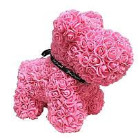 Мишко з серцем 3D троянд Teddy Rose 40 см Червоний + подарункова упаковка