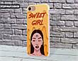 Силиконовый чехол Милая девушка Диджитал Арт (Sweet girl Digital art) для Apple Iphone 5_5s_Se , фото 4