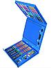 Набір для дитячої творчості у валізі з 208 пр. Синій | Набір для малювання Валізку юного художника, фото 2