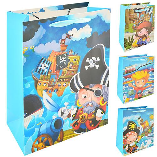 Пакет подарочный Stenson Пираты R-87658 18х24х8,5 см 12 шт/уп