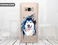 Силиконовый чехол Красочный хаски (Colorful husky) для Samsung J600 Galaxy J6 (2018) , фото 2