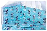 Детская постель Qvatro Gold RG-08 рисунок  бирюзовая (it's a boy), фото 2