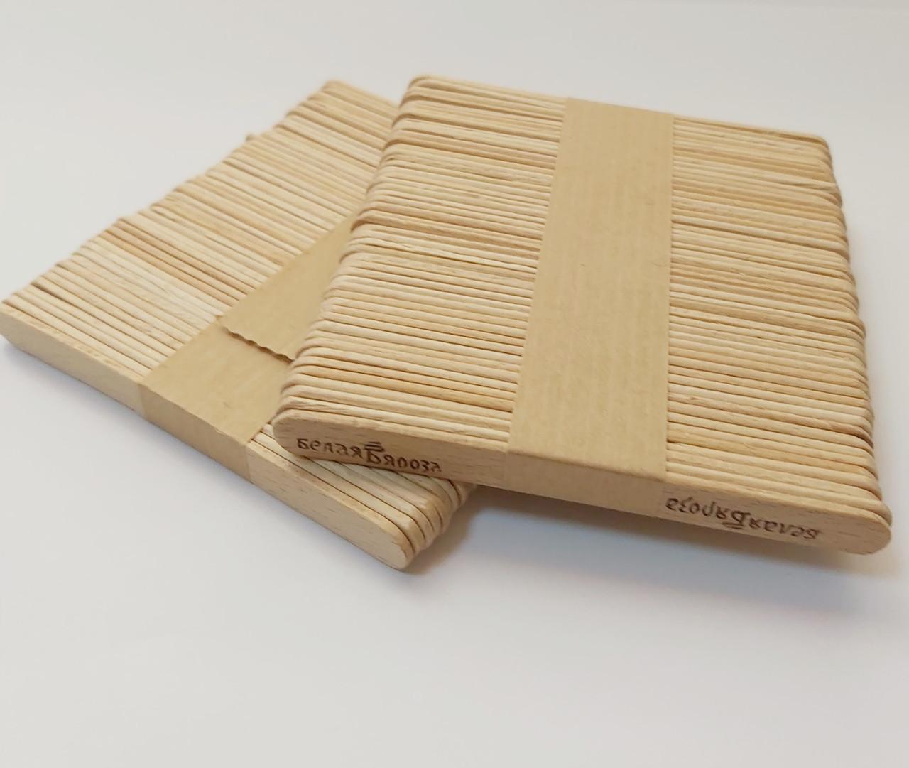Деревянные палочки для мороженого Берёза 94*10*2 мм 50 шт.