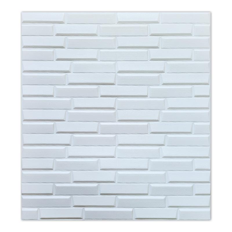 Самоклеюча декоративна 3D панель біла кладка 770х700х7 мм