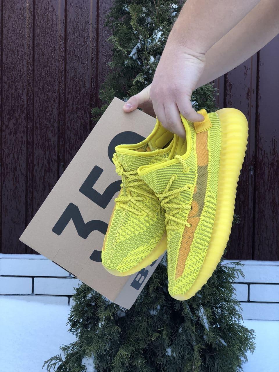 Кроссовки Yeezy Boost 350 v2 желтые 41-45