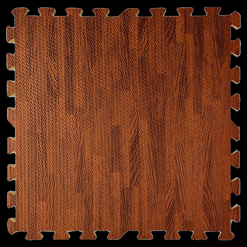 Пол пазл - модульное напольное покрытие 600x600x10мм дерево темное