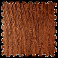 Пол пазл - модульное напольное покрытие 600x600x10мм дерево темное, фото 1