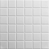 Самоклеюча декоративна стельова 3D панель куби 600х600х7мм, фото 1