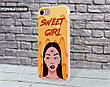 Силиконовый чехол Милая девушка Диджитал Арт (Sweet girl Digital art) для Samsung J810 Galaxy J8 (2018) , фото 4