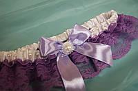 Свадебная подвязка Нежная сирень