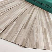 Самоклеюча вінілова плитка сіро-бежева, ціна за 1 шт. (мін. замовлення 15 штук), фото 1