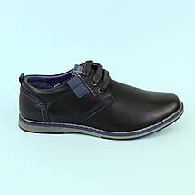 Туфлі для хлопчиків підлітків чорні 3405A Tom.m розмір 36, фото 3