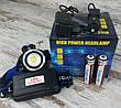 Аккумуляторный многофункциональный налобный фонарь BL-T24-P50. Мощный светодиодный фонарик., фото 5