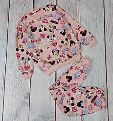 Детская пижама для девочки пижамка Минни Маус розовая 7-8 лет