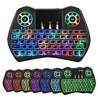 Беспроводная мини клавиатура i9 с тачпадом и подсветкой, фото 1